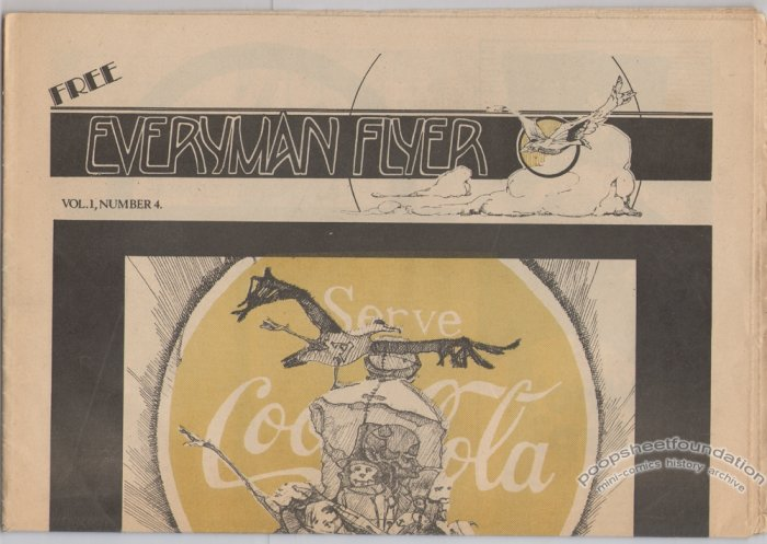 EVERYMAN FLYER #4 underground comix paper ARTIE ROMERO 1974