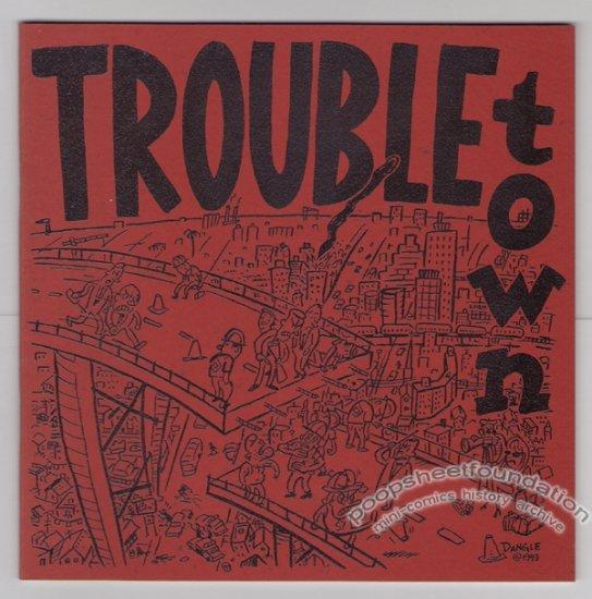 TROUBLETOWN #2 mini-comic LLOYD DANGLE signed 1993
