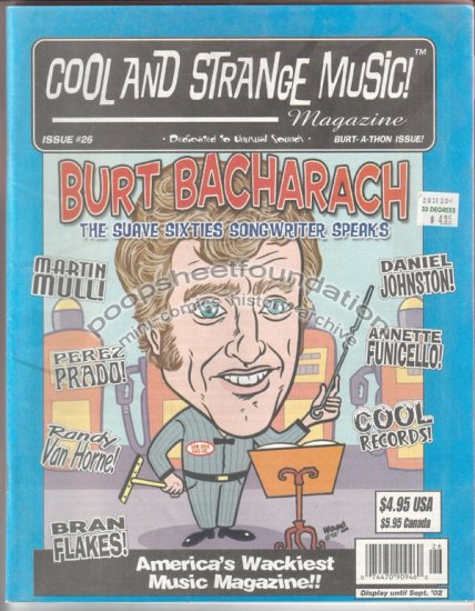 COOL AND STRANGE MUSIC #26 Daniel Johnston MARTIN MULL Burt Bacharach 2002