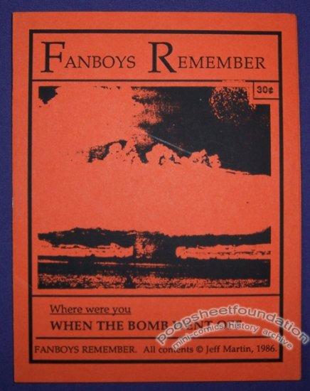 FANBOYS REMEMBER mini-comic JEFF MARTIN minicomic 1986