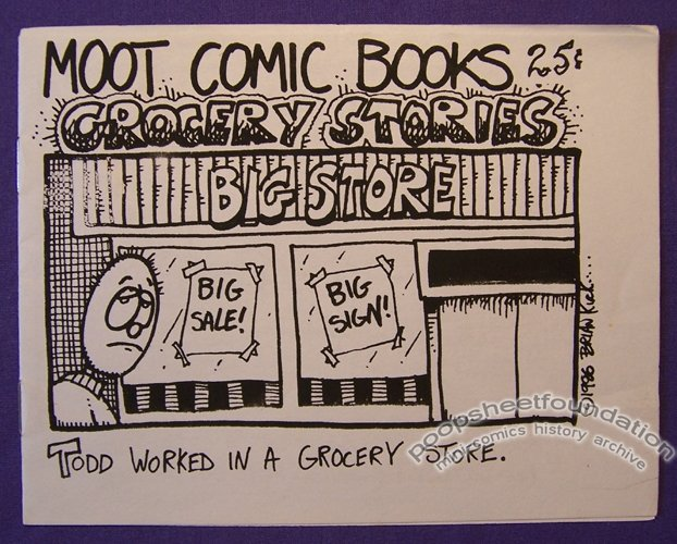 GROCERY STORIES mini-comic BRIAN KIRK 1986