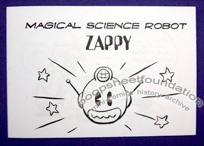 MAGICAL SCIENCE ROBOT ZAPPY mini-comic DAVID GOODMAN 2003