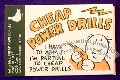 CHEAP POWER DRILLS Minipulu #17 Finnish mini-comic JUKKA TILSA 2004