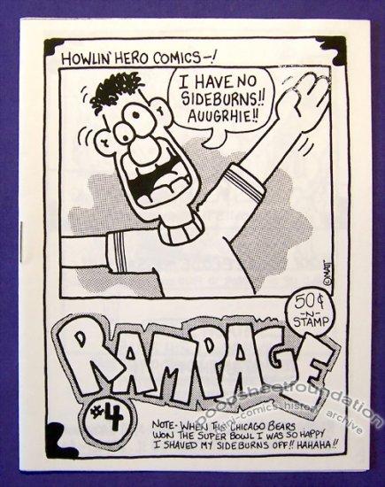 RAMPAGE #4 mini-comic MATT JACKOWIAK minicomic 1988