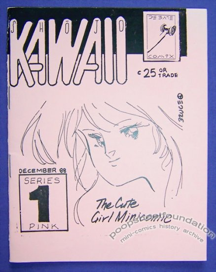 SHOJO KAWAII #1 mini-comic BRUCE LEWIS manga pin-ups 1988