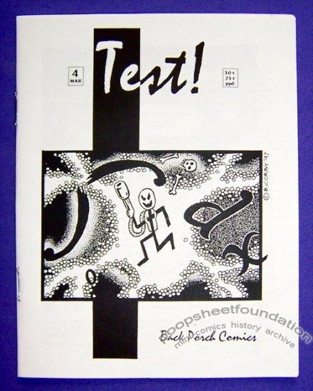 TEST #4 mini-comic BOB CORBY small press 1997