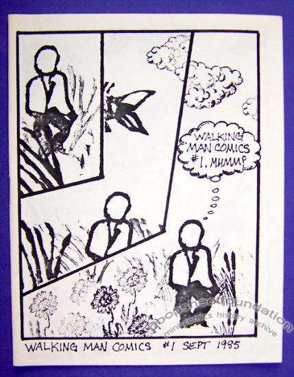 WALKING MAN COMICS #1 mini-comic MATT LEVIN rubber stamp comix 1985