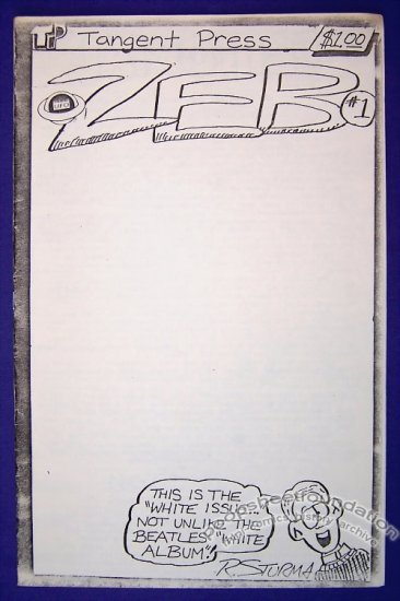 ZEB #1 mini-comic ROB STURMA Chuck Bunker UFO 1988