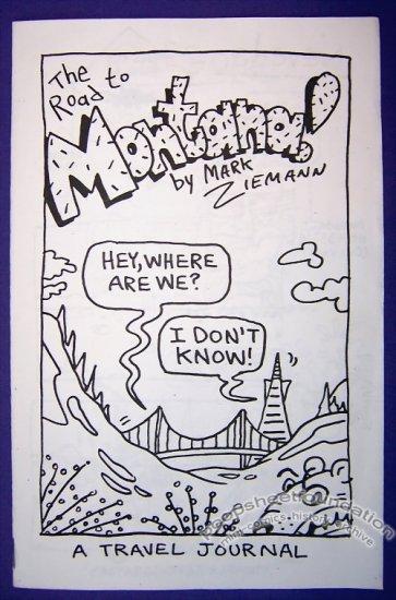 THE ROAD TO MONTANA mini-comic MARK ZIEMANN travel