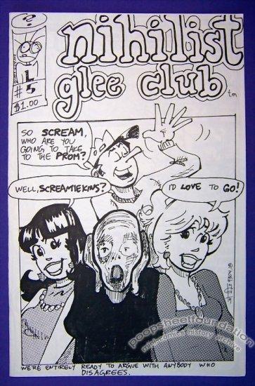 NIHILIST GLEE CLUB #5 Canadian mini-comic GREG HYLAND Sean Wilson 1993