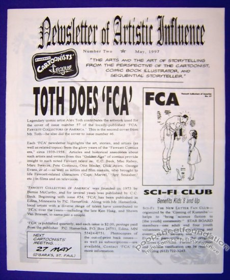 NEWSLETTER OF ARTISTIC INFLUENCE #2 fanzine CHAS MULLER Tex Avery 1997