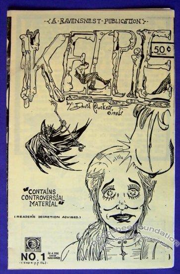 KELPIE #1 mini-comic DAVID PUCKETT minicomic 1986