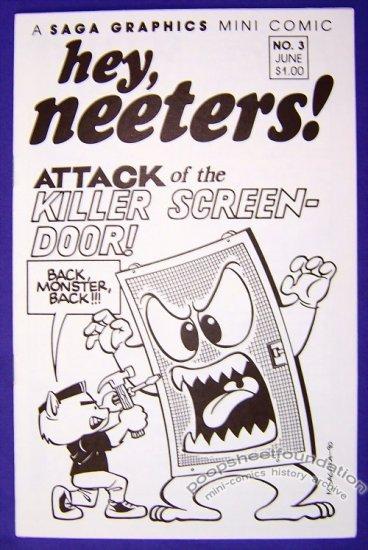 HEY, NEETERS #3 mini-comic MIKE SAGARA funny animals 1990