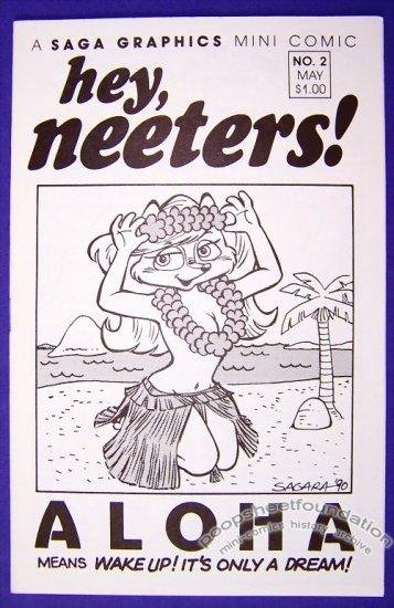 HEY, NEETERS #2 mini-comic MIKE SAGARA furry comix 1990