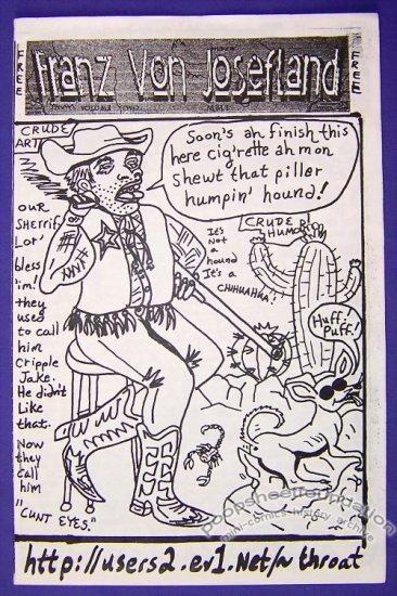 FRANZ VON JOSEFLAND #2 mini-comic COZ THE SHROOM 2001