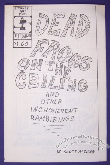 DEAD FROGS ON THE CEILING #1 mini-comic SCOTT McCLUNG 1984
