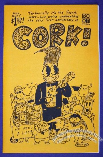CORK #4 mini-comic ROOT BRADFORD minicomics 1995