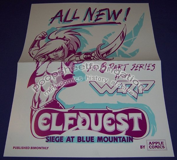 ELFQUEST poster WENDY PINI Warp Graphics 1980s