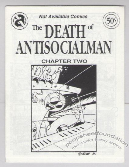 DEATH OF ANTISOCIALMAN #2 mini-comic MATT FEAZELL small press