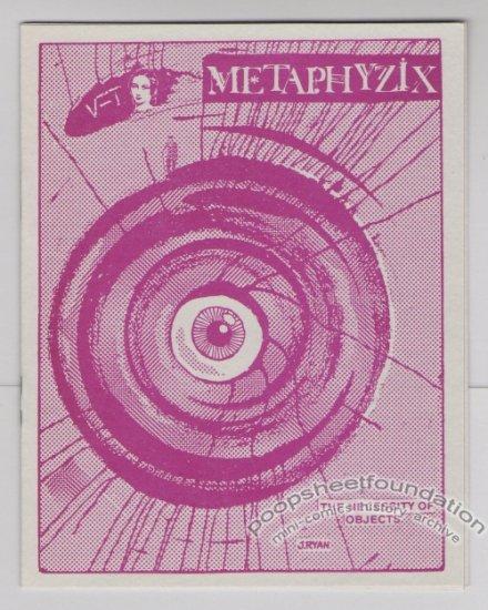 METAPHYZIX mini-comix STEVE WILLIS Dale Luciano ANDY NUKES art brut 1986