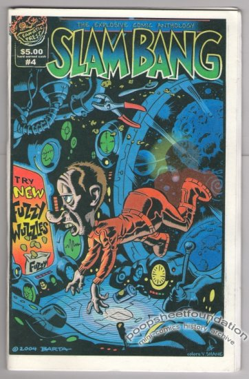 SLAM BANG Vol. 2, #4 mini-comic HILARY BARTA Jim Siergey JOHN LUSTIG Doug Chaffee 2004
