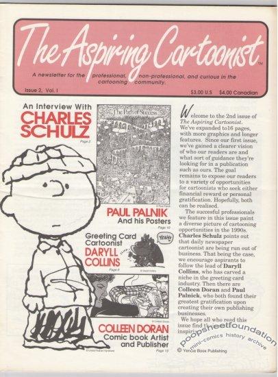 ASPIRING CARTOONIST #2 newsletter CHARLES SCHULZ Daryll Collins COLLEEN DORAN 1990s
