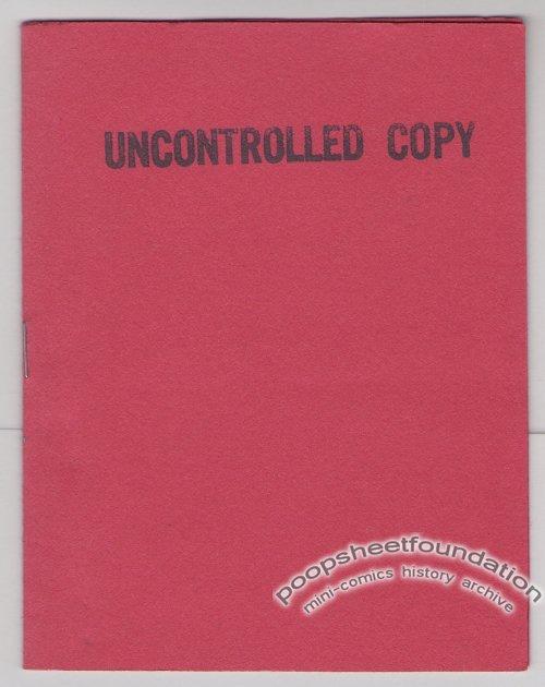 UNCONTROLLED COPY mini-comix MARY FLEENER Jeff Gaither MICHAEL RODEN Steve Willis 1986