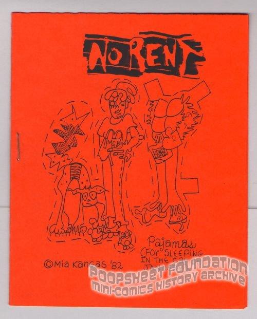 NO RENT mini-comic MIA KANGAS underground Comix World 1982