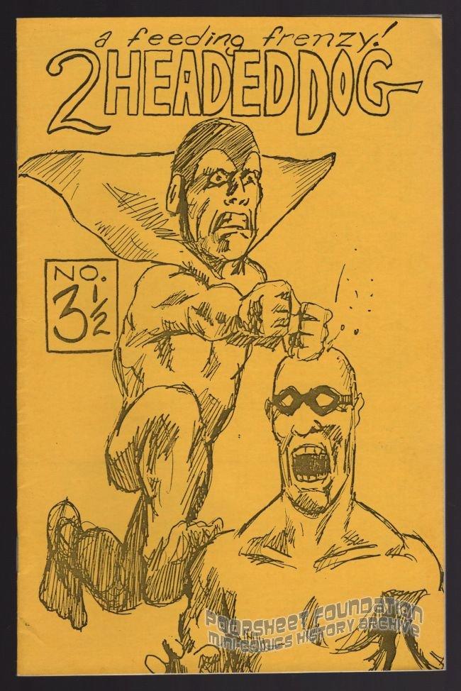 TWO-HEADED DOG #3½ underground comix ERIK WEEMS small press mini-comic 1988