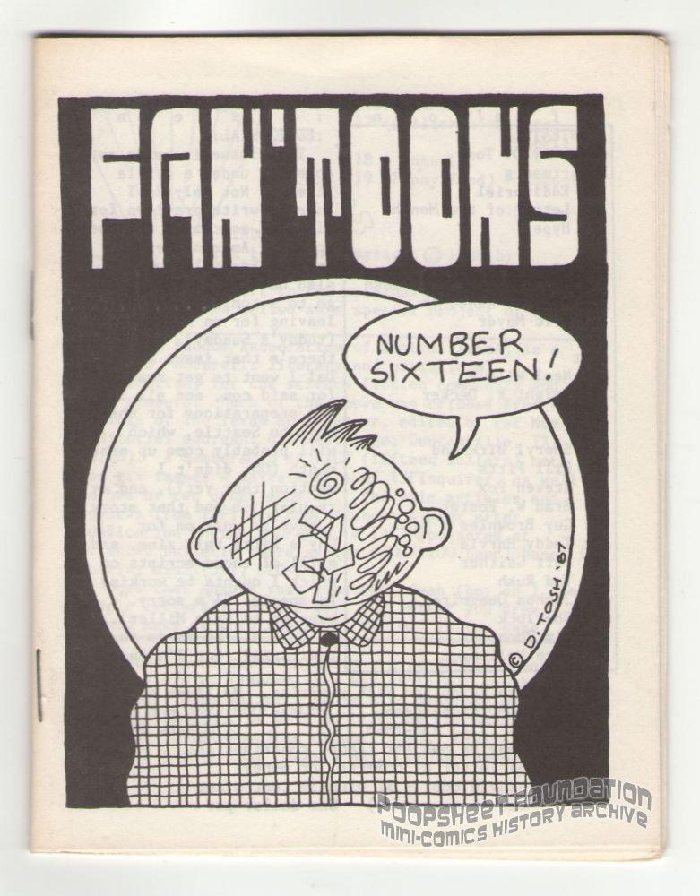FAN'TOONS #16 underground comix JEFF GAITHER Quagmire TOSH Foster minicomic zine 1987