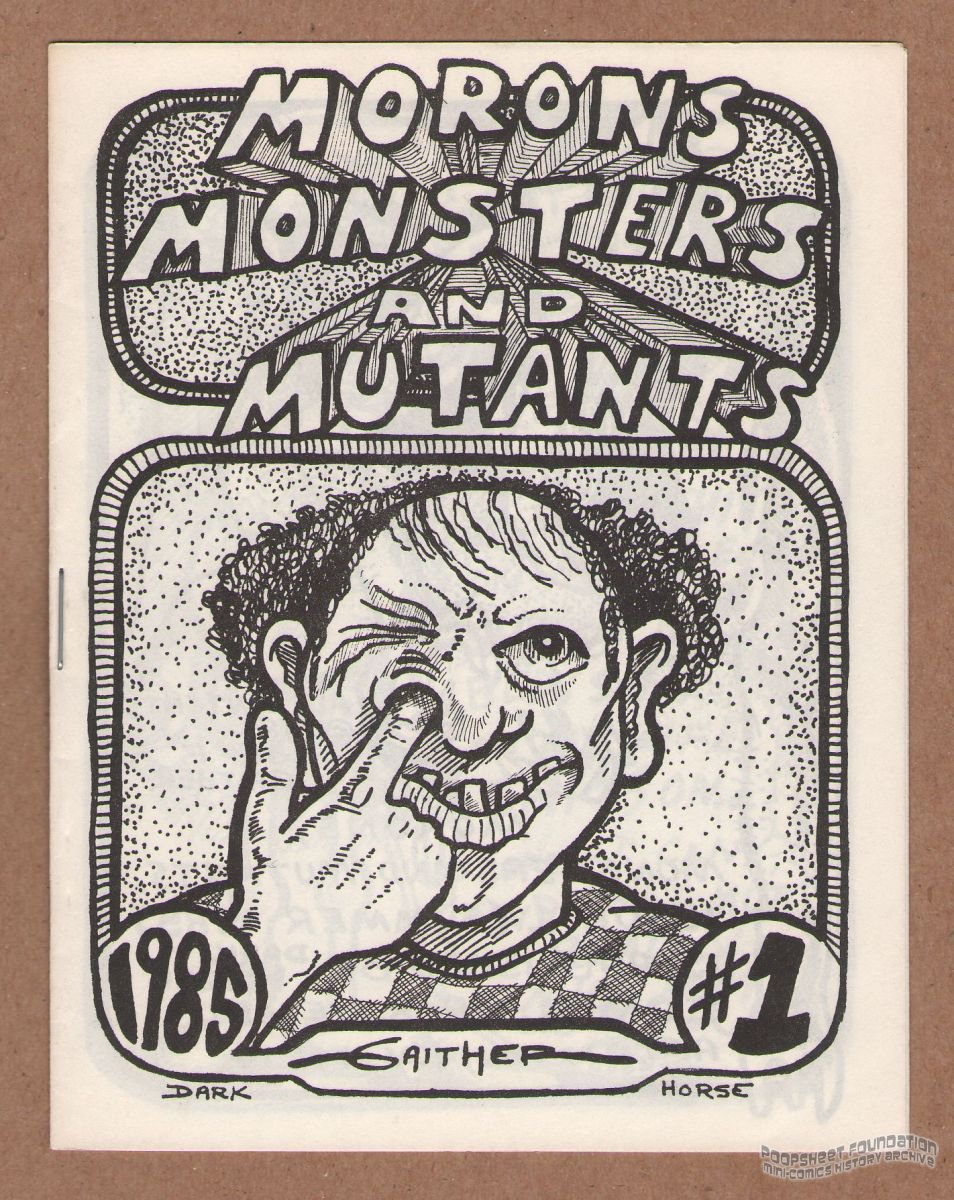 MONSTERS AND MUTANTS #1 underground comix JEFF GAITHER mini-comic lowbrow 1985