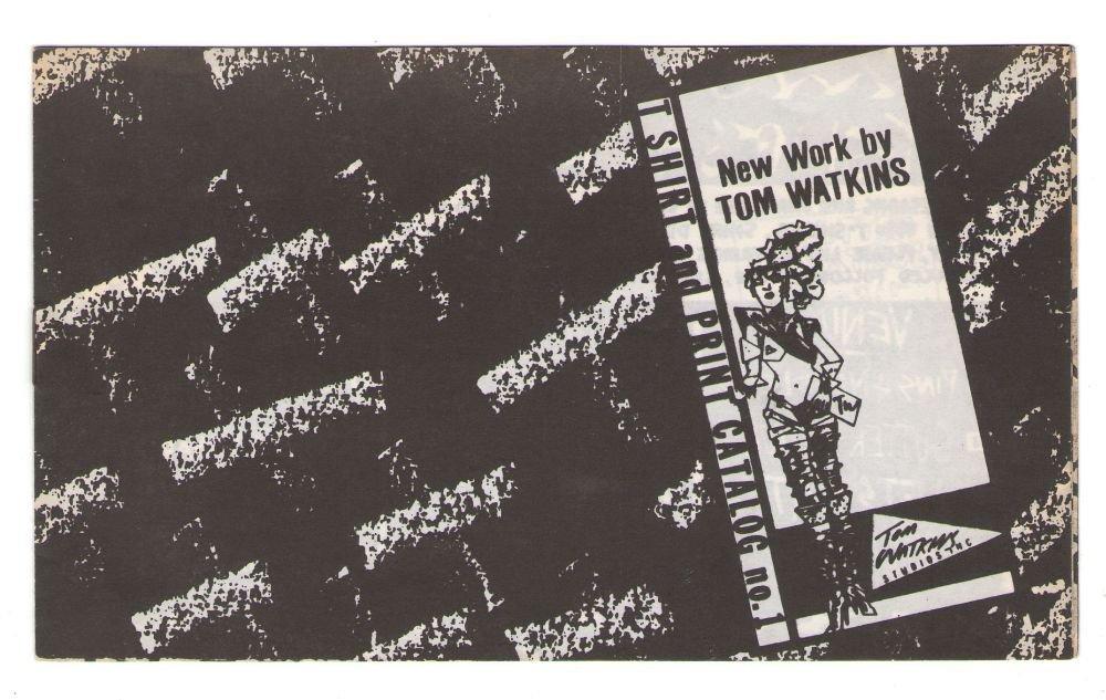 TOM WATKINS t-shirt & print catalog 1984 underground comix crayon art