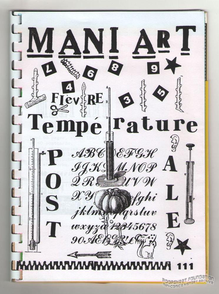 MANI ART #111 assembling mail art zine postale Pascal Lenoir 1998 #30/60