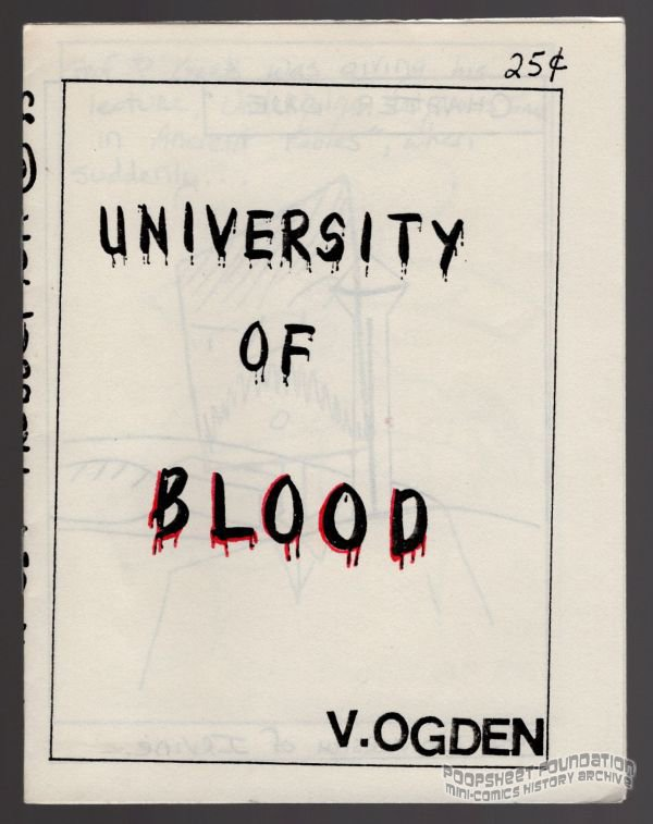 UNIVERSITY OF BLOOD underground comix VICKI OGDEN mini-comic 1985