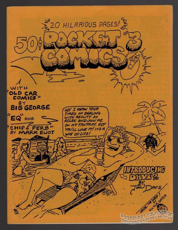 POCKET COMICS #3 mini-comic VICTOR GATES George Stasinos comix 1988