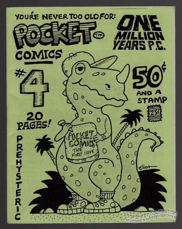 POCKET COMICS #4 mini-comic VICTOR GATES George Stasinos comix 1988