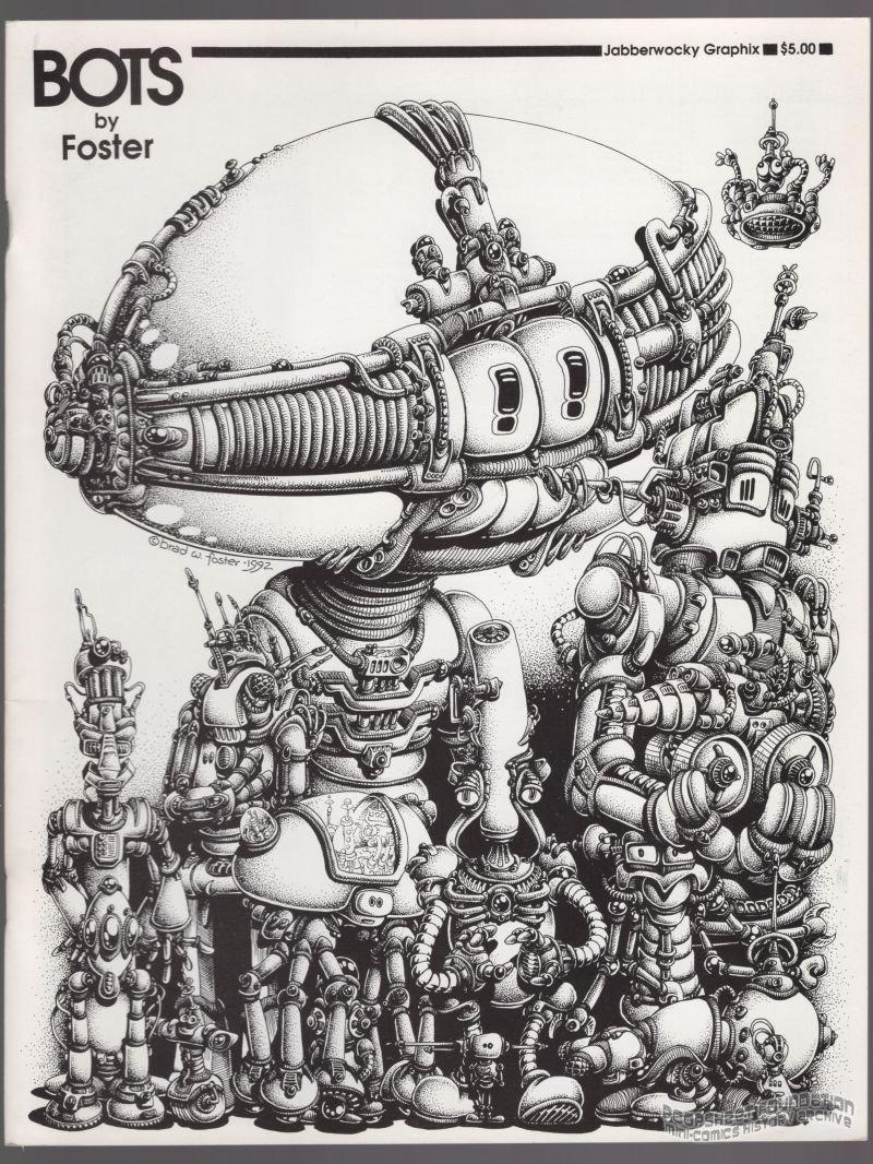 BOTS mini-comic BRAD W. FOSTER robots underground comix 1997