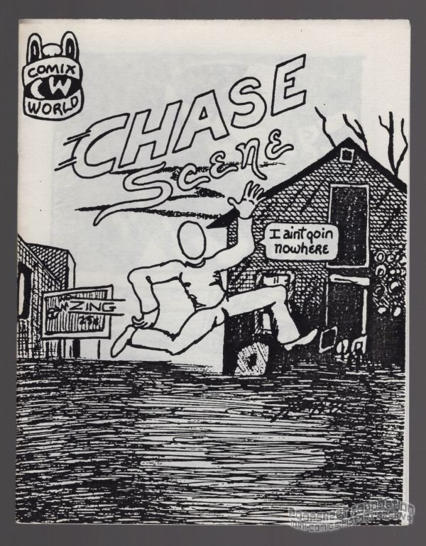 CHASE SCENE underground comix BOB SHERIDAN minicomix 1980s Comix Wave