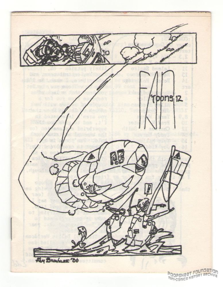 FAN'TOONS #12 Guy Brownlee BRAD W FOSTER Taral Wayne mini-comic fanzine 1986
