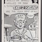 FRIED BRAINS #27 underground comix DAN W TAYLOR mini-comic Comix Wave 1989