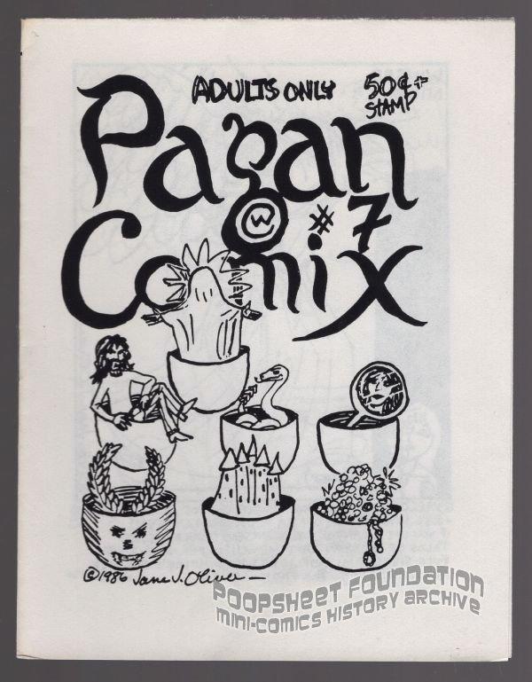 PAGAN COMIX #7 mini-comic JANE J OLIVER Al Greenier underground Comix Wave 1986