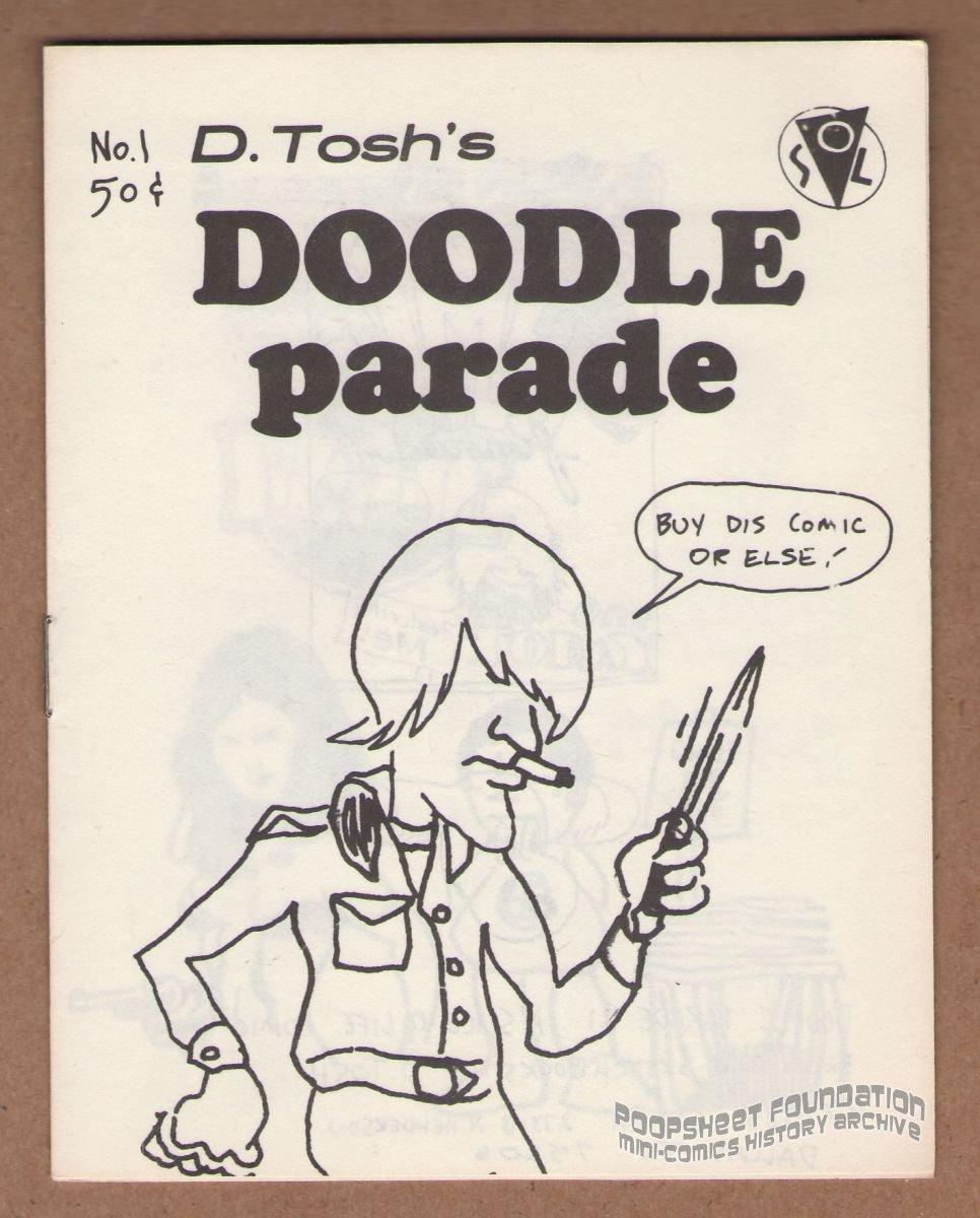 DOODLE PARADE #1 mini-comic DAVID TOSH underground comix R. Crumb 1985