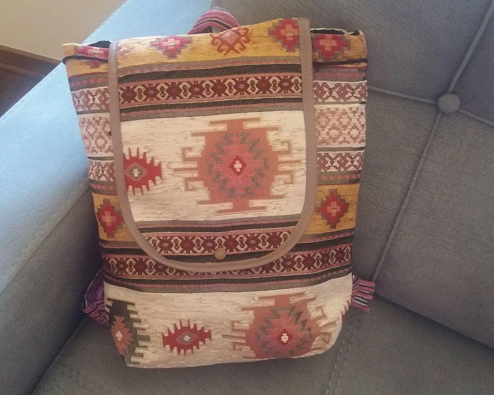Handmade Backpack Bag, Armenian Backpack, Ethnic Bag