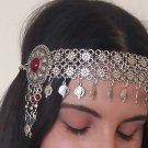 Pomegranate Forehead Flowery Silver Plated Drop, Armenian Headpieces Drop