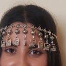 Artsakh Bowls Forehead Silver Plated Drop, Armenian Headpieces Drop
