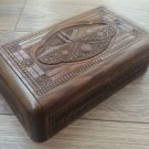 Handmade Armenian Wooden Box with Mount Ararat and Pomegranate
