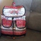 Handmade Armenian Backpack Bag, Ethnic Backpack Bag, Armenian Backpack with Pomegranate and Alphabet