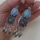 Armenian Dangle Drop Earrings with Turquoise, Ethnic Drop Earrings, Boho Hippie Drop Dangle Earrings