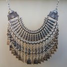 Anahit Haft Moon Drop Coin Statement Necklace, Armenian Anahit Necklace, Goddess Statement Necklace