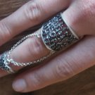 Armenian Double Ring Sterling Silver with the Alphabet